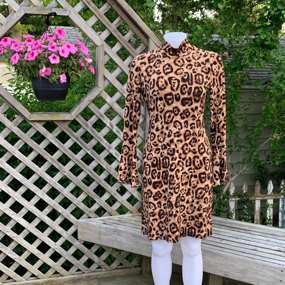 INC International Concepts Dresses & Skirts - Long sleeve animal print dress